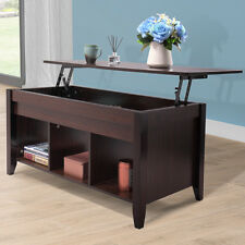 Lift Top Convertible Coffee Table  Solid Wood Desk End Storage Living Room