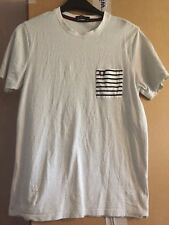 MENS CREAM WITH BLACK SPOTS SHORT SLEEVE T SHIRT BY FRED PERRY MEDIUM