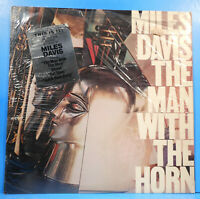 MILES DAVIS THE MAN WITH THE HORN LP 1981 SHRINK GREAT CONDITION! VG++/VG++!!B