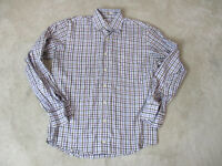 Peter Millar Button Up Shirt Adult Small Brown Purple Striped Office Casual Mens