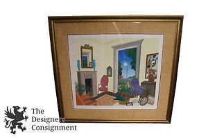 Vtg Thomas McKnight Hand Signed Limited Edition Serigraph HC #23/30 Surrealism