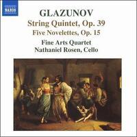 Glazunov: String Quintet; Five Novelettes (CD, Feb-2007, Naxos)