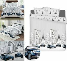 Kids Children Boys Girls Duvet Cover 100% Cotton Bedding Sets Double King Size
