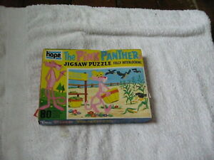 HOPE VINTAGE PUZZLE THE PINK PANTHER JIGSAW PUZZLE 1964 80 PIECES CORN PICKING