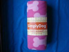 "New listing Simply Dog Fleece Blanket Pink 30"" x 40"" / Brand New"