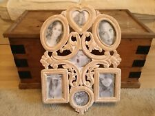 Gorgeous Large Lime Washed Shabby Chic Multi Photo Picture Frame