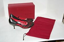 NIB $500 Bottega Veneta Women's Leather Shoes Red/Black 10 US ( 40 Eu ) Italy