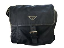 Prada Nylon Tessuto Crossbody Messenger Bag Black