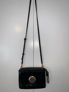 Mimco Secret Couch Leather Crossbody Hip Bag - Black (Like New)