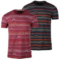 Beautiful Giant Men's Short Sleeve Striped Pattern Graphic Pocket Active T-shirt