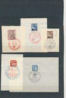 Lot Stamp Germany Bohemia WWII On Paper Hitler Brunn Prag Pilsen Cancel Zlin CTO
