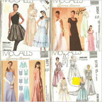 OOP McCalls Sewing Pattern Wedding Prom Party Formal Dress Gown Misses You Pick