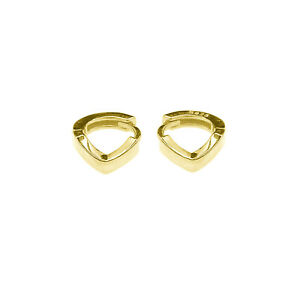 Sterling Silver Wishbone 6mm Hoop Gold Plated Huggie Cuff Helix Lobe Earrings