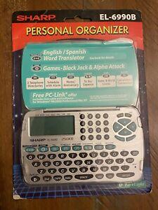 Sharp EL-6990B Electronic Personal Organizer English Spanish Translator + Games