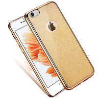 New Gold Bling Glitter Detachable Ultra Thin Gel TPU Silicone Case For iPhone 7