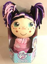 New Flip Zee Girls Zuri Black Kitty Cat  2-in-1 Plush Soft Cloth Doll Toy