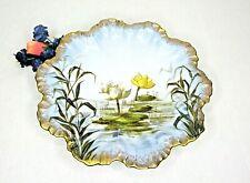Vintage Antique Limoges Hand Painted Plate Floral Gold Gilded ExcellentLotus