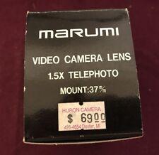 Marumi 1.5x telephoto lens 37mm mount Sony Tr-55 Fujix M690 Ricoh R-680 Kyocera