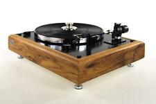 Restaurierter Thorens TD146 Plattenspieler aus 100 jährigem Eichenholz / schwarz