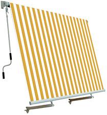 Tenda da sole per balcone con sistema a caduta Colore Bianco e Giallo 250x250 cm