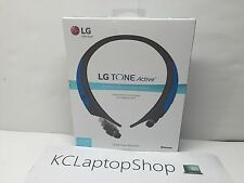 Genuine LG TONE Active HBS-850 Bluetooth Headset - Gray, Blue - Water Resistant
