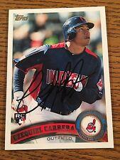 Cleveland Indians Ezequiel Carrera Autograph Signed Auto Card