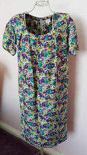 Whistles womens boxy shift silk floral dress size 8 excellent