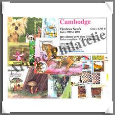 CAMBODGE - Timbres NEUFS - 680 Timbres et 90 Blocs - Années 1989 à 2001