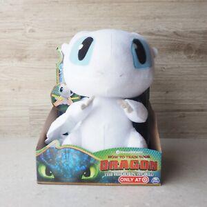 "How to Train Your Dragon 3 Hidden World Squeeze & Growl Lightfury 10"" Plush NEW"