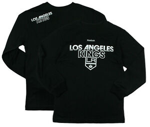 Reebok NHL Youth Boys Los Angeles Kings Long Sleeve Center Ice T-Shirt, Black