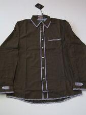 Cedric Brown Plaid English Laundry LS SHIRT LONGSLEEVE BUTTON UP CHECK L Large