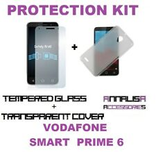 KIT COVER + PELLICOLA VETRO TEMPERATO VODAFONE SMART PRIME 6 VF-895N CASE +GLASS