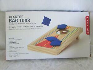 Kikkerland  Desktop Conrnhole Game ~ Desktop Bag Toss