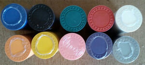 200 Roulette /  poker chips 8 gram diamond edge choice of 10 colors