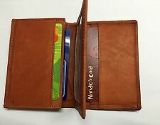 Elegant  Pure Leather Card Coin Holder Brown