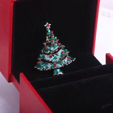 1Pcs Cute Christmas Tree Brooch Xmas Gift Alloy New Year Party Decoration Pins