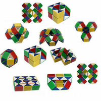 COLOURED PUZZLE SNAKE PARTY BAG TOY LIKE RUBIKS 3D MAGIC CUBE TWIST NOVELTY GIFT