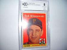 Ted Kluszewski GRADED CARD!! Beckett BCCG 8! 1958 Topps #178 Pittsburgh Pirates