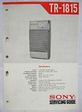 SONY TR-1815 TRANSISTOR RADIO Original SERVICE MANUAL