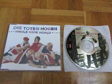 DIE TOTEN HOSEN Whole Wide World RARE 1992 EUROPEAN CD single non lp track