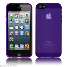 New High Gloss Silicone Case Skin Protective Cover For Apple iPhone 5 5S Purple
