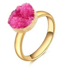 Irregular Raw Rock Crystal Quartz Adjustable Stone HOT Finger Ring Jewelry