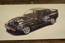 PORSCHE 944 S PVC grande lavoro Negozio Banner Garage CAR SHOW Banner