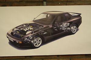 porsche 944 S pvc large WORK SHOP BANNER garage car show banner