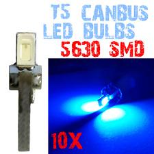 10 T5 5630 SMD LED Dashboard Interieur Gloeilampen Panel Auto 12V Blauw 2E8 2E8.