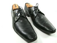 Christian Dior Mens Black Leather Perforated Oxfords US Size 11 EUR 44