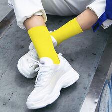 Solid Fashion Cotton Mid Tube Socks Winter Warm Hosiery Pile Heap Skateboard New