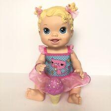 BABY ALIVE Blonde Yummy Treats Doll 2012- Licks Ice Cream Cone by Hasbro