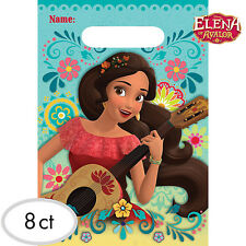 Elena Of Avalor Party Supplies LOOT BAGS Lolly Bags Treat Sacs Pack Of 8 Plastic