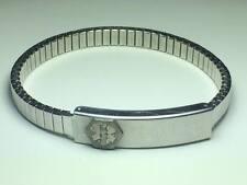"""Vintage Medilog by Speidel medical bracelet """"Penicillin"""" Made in the USA"""
